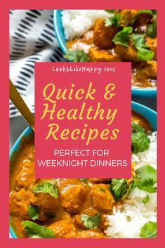 Quick & Healthy Recipes Perfect for Weeknight Dinners - time is in short supply on weeknights, but dinner can still be great!   #dinner #recipe