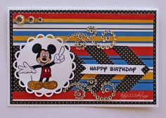 """Mickey Birthday"" Card - Scrapbook.com"