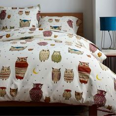Starry Night Flannel Duvet Cover, queen