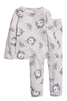 Pyjamas in patterned cotton jersey. Cute Pajama Sets, Cute Pajamas, Kids Pajamas, Kids Outfits Girls, Girl Outfits, Cute Outfits, Fashion Outfits, Unicorn Fashion, Unicorn Outfit