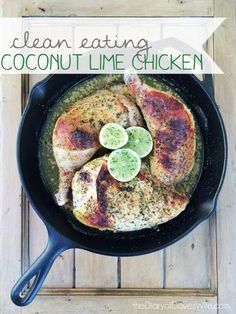 Clean Eating Coconut Lime Chicken