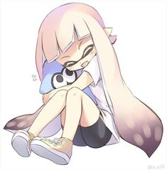 I'm going to hug you forever and ever! Nintendo Splatoon, Splatoon 2 Art, Splatoon Comics, Illustration Kawaii, The Legend Of Zelda, Squid Girl, Character Art, Character Design, Pokemon