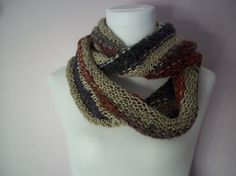 Deep Jewels Magic Infinity Cowl Scarf Hand Knit on Etsy, $45.00