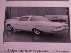 1961 Chevrolet Impala clay mock up from 1958