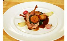 Try this recipe from Chef Daniel Boulud for prosciutto wrapped figs stuffed in tender quail. D'Artagnan