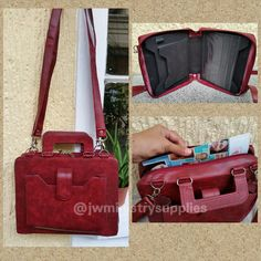 """Burgundy Service Bag  material- faux leather comes with outside pocket for bible  pockets to hold magazines, tracts, brochures, house to house record, pen holder  with inside pocket to hold tablet for up to 10"""" size  comes with a handle and detachable straps  $40 + postage  to order kindly visit my etsy shop  https://www.etsy.com/shop/JWministrysupplies?ref=hdr_shop_menu or email me at nellieblnsg@yahoo.com.ph"""