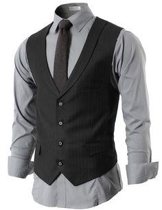 Mens Modern Suit Vest 4 Button Closer With Shawl Collar (KMOV05) #doublju