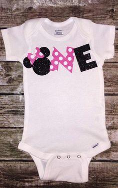 ONEderfurl Minnie Mouse Inspired onesie