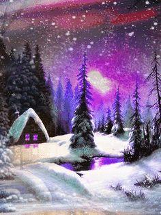 Зимняя сказка - анимация на телефон №1423349