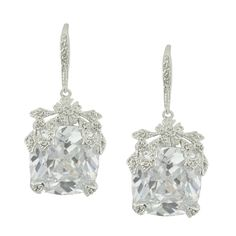 Kenneth Jay Lane CZ Crystal Square Drop Earrings | SOPHIESCLOSET.COM | Designer Jewelry  Accessories