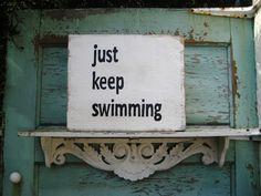 Just Keep Swimming,Rustic Wood Sign,Wood Signs,With Sayings,Reclaimed Wood Art,Bohemian Art,Boho Decor,Minimalist Wood Art,Wood Wall Art by BlackCrowCurios on Etsy https://www.etsy.com/listing/475814545/just-keep-swimmingrustic-wood-signwood