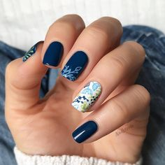63 Bright Floral Nail Designs You Should Try for Spring 2019 – Liatsy - Nails Desing Short Nail Designs, Nail Designs Spring, Cool Nail Designs, Acrylic Nail Designs, Acrylic Nails, Nail Designs Floral, Spring Nail Trends, Spring Nail Art, Spring Nails