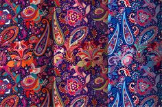 3 Bright Paisley Patterns by Sunny_Lion on @creativemarket