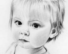 Custom Portrait Pencil Drawing from your photo Portrait Pencil Drawing Tutorials, Pencil Art Drawings, Eye Drawings, Drawing Tips, Portrait Sketches, Portrait Art, Human Figure Drawing, Beautiful Sketches, Baby Portraits