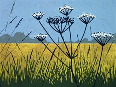 Golden Field, Linocut by Alexandra Buckle | Artfinder