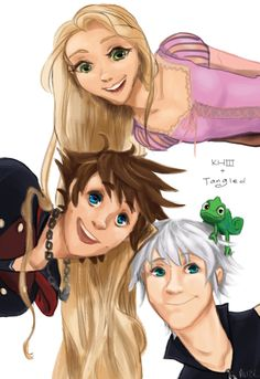 KHIII x Tangled by a-a-alice on DeviantArt