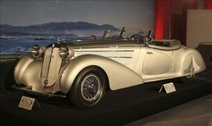 This stunning 1938 Horch 853A Special Roadster by Erdmann & Rossi made a welcome and special return to Monterey for RM's auction, having taken home the coveted Pebble Beach Concours d'Elegance Best of Show trophy in 2004. It is an exceedingly rare car: Only five were built. Of the three remaining, all have bespoke coachwork and interior details, meaning each is unique.