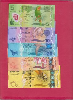 Fiji Paper Money New Issue $5, $10, $20, $50, and $100  5 notes choice unc. picclick.com