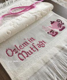 Towel, Embroidery, Handmade, Instagram, Dish Towels, Sentences, Dots, Needlepoint, Crosses