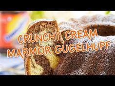 Ein traditionelles Rezept einmal anders: Mit dem Marmor Gugelhupf mit Ovomaltine Crunchy Cream gibst du dem Desserterlebnis den gewissen Kick. Eignet sich sehr gut um deine Arbeitskollegen in der Pause zu überraschen. Aber auch sonst kommt der Marmor Gugelhupf immer und überall gut an. Garantiert! Peps, Quiche, Moment, Cream, Desserts, Brownies, Muffins, Youtube, Palm Oil