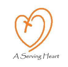 "Logo of the organization ""A Serving Heart"" serving God and His people in Haiti and the Dominican Republic. Co-founders Deborah Eklund and Julienne Lebrun. Established in 2010, a non-profit Christian faith based grassroots organization. Helping one person at a time.  http://aservingheart.wix.com/aservingheart/"