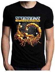 Scorpions Women T-Shirt Metal Rock Music Band Official Logo Black Women Tee