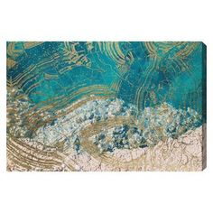 "Oliver Gal 'Salt Water' Graphic Art on Wrapped Canvas Size: 16"" H x 24"" W x 1.5"" D"