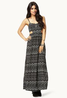 Forever 21 Cutting Edge Tribal Print Maxi Dress on shopstyle.com