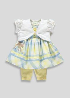 31ad8bfa1514 Kids Disney Bambi 3 Piece Dress Set (Newborn-18mths) - Matalan