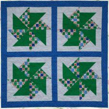 Free Pattern - Snowmen Spinners Quilt by Ellen Maxwell