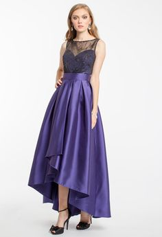 SEQUIN HI-LOW LONG DRESS #ballgown #sequin #hilow #longdresses #camillelavie #groupusa