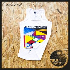 "Canotta DONNA ""Sarasa, el color de Cordoba"" 16,90€  100% Cotone ring spun Ampio girocollo e orlo inferiore con doppie impunture, rifiniture di tendenza, cuciture laterali.  Vintage look... 100% Designed in Italy  -  Tank top WOMAN ""Sarasa, el color de Cordoba"" 16,90€  100% ring spun cotton Wide crew neck collar and bottom hem with double topstitching. Trendy cut front & back yokes, side seams.  Vintage look... 100% Designed in Italy"