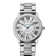 Ronde Solo de Cartier watch, extra-large model - Automatic, steel - Fine Timepieces for men - Cartier
