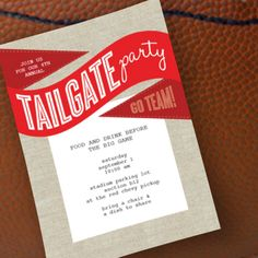 Football Tailgate Invitation Printable, tons of free printables on this site for weddings, parties, diy art and more!