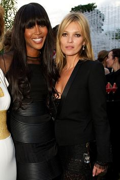 Super model reunion. Naomi Campbell and Kate Moss Photo by James Mason