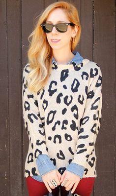 Fluffy Leopard Print Sweaters, Leopard print sweater for fashion girls.Cute Fluffy Leopard sweater for girls. #sweater #leopard #girls www.loveitsomuch.com