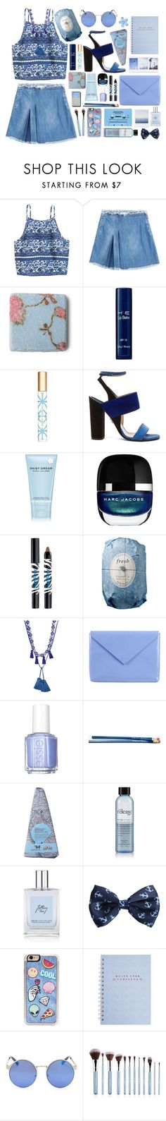 """""""Promise Not to Promise Anymore"""" by sverdesca ❤ liked on Polyvore featuring See by Chloé, Jane Iredale, Tory Burch, Paul Andrew, Marc Jacobs, Sisley, Fresh, Shourouk, Acne Studios and Essie"""