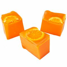 Orange Jelly Soap: a zesty orange delight