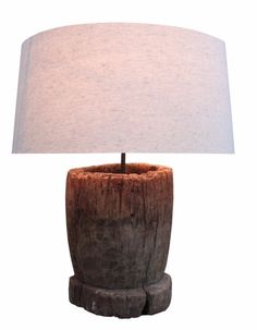 super cool wood table lamp