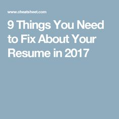 is getting a new job in 2017 at the top of your list of new years resolutions heres how to get your resume in ship shape condition