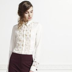 a5de0490 Parisian, Timeless, Elegant / Shop your white shirt ! Women Bow Tie,  Casual. Anne Fontaine