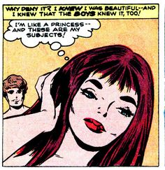"""Comic Girls Say.. """"I'm like a princess..and these are my subjects ! """"   #Vintage #Comic"""