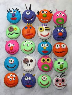 Monster cupcakes for Ellison's bday