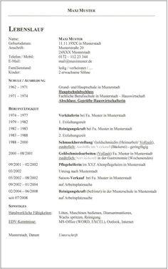 3 klassischer _lebenslauf_maxi muster_times new roman id 438 seite 11 - Tabellarischer Lebenslauf Fr Schler