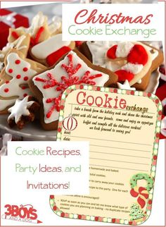 This article is loaded with all of the Christmas Cookie Exchange Ideas you will need to host (or attend) the perfect Christmas Cookie Exchange this year! Easy Christmas Cookie Recipes, Best Cookie Recipes, Holiday Cookies, Easy Recipes, Cookie Exchange Party, Christmas Cookie Exchange, Christmas Candy, Christmas Treats, Matcha