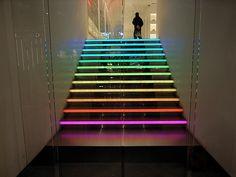 Neon Rainbow Stairs...