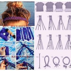 DIY: braided headband from old t shirt