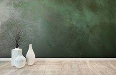 Groen betonlook behang Groen betonlook behang The post Groen betonlook behang appeared first on Slaapkamer ideeën. Home Bedroom, Home Living Room, Painted Feature Wall, Green Wallpaper, Industrial Living, Green Rooms, Creative Decor, My New Room, Wabi Sabi