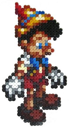 Pinocchio perler bead sprite by pixgraff