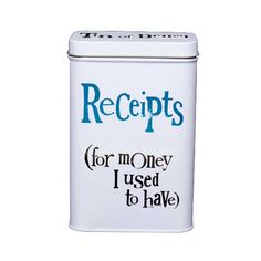 |Receipt Tin| would find this extremely useful for myself. Least then I'll know what's I've spent and be slightly more organised. Lol!